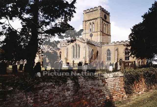 St Andrew's Church, Langar, c 1990
