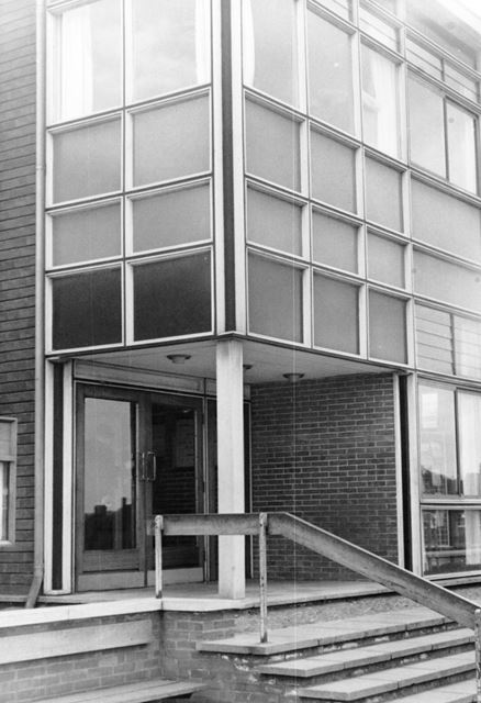 Library Entrance, Forest Road, Ollerton, c 1985 ?
