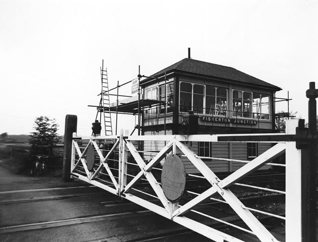 Fiskerton Junction Signalbox, Morton, 1979