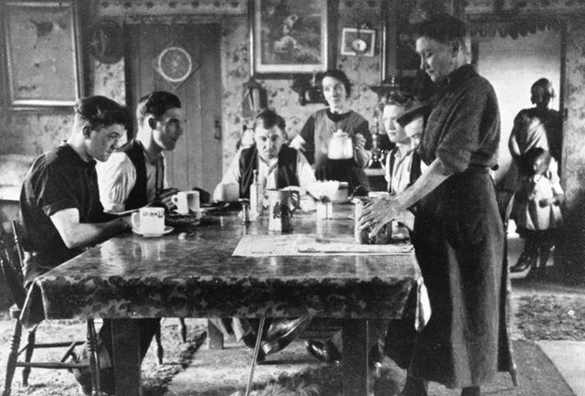 Coal Miners in Esther Gibbon's Boarding House, Ollerton, 1932