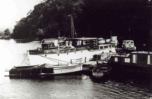 Pleasure boats moored on the River Trent, Radcliffe on Trent, undated