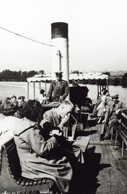 'Pride of the Yare' pleasure steamer on the River Trent, Radcliffe on Trent, 1950s