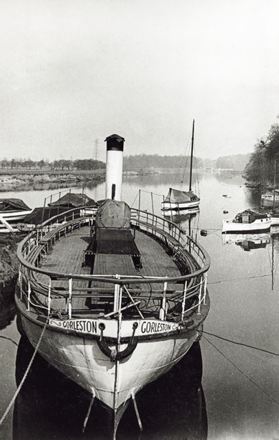 Pleasure boats moored on the River Trent, Radcliffe on Trent, 1950s